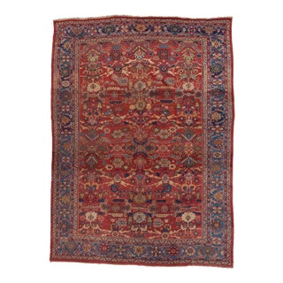 19th Century Red Ground Sultanabad Carpet For Sale