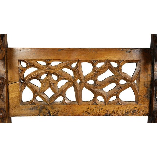 Gothic Gothic Fruitwood Bench For Sale - Image 3 of 10