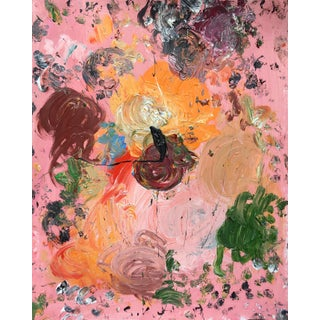 Sean Kratzert 'Pink Marmalade' Abstract Oil Painting For Sale