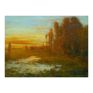 """September Harmony"" (1910) Tonalist Painting Oil on Canvas by Karl Emil Termöhlen For Sale"