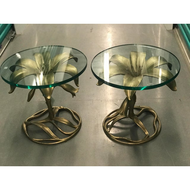 Boho Chic Arthur Court Lily Side Tables - A Pair For Sale - Image 3 of 6