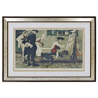 20th Century Framed Modern Illustration A.P. Litho Signed Norman Rockwell C.1936 For Sale