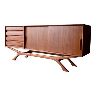 Monumental Mid Century Modern styled Teak CREDENZA Media Stand