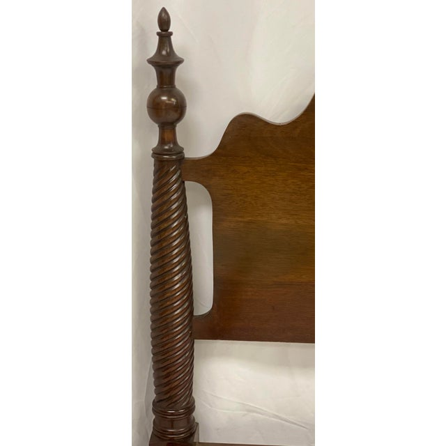Mid 20th Century Mid 20th Century Mahogany Statton Trutype Full Four Poster Bedframe For Sale - Image 5 of 12