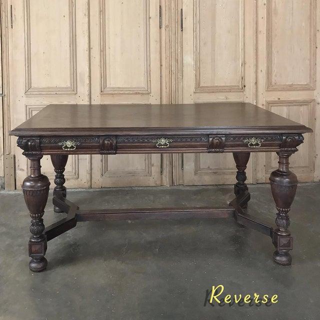 Late 19th Century 19th Century French Renaissance Desk ~ Bureau Plat For Sale - Image 5 of 13