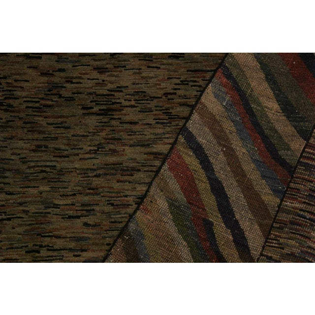 Contemporary Overdyed Color Reform Glory Gray/Rust Area Rug - 4'7 X 6'4 For Sale - Image 3 of 8
