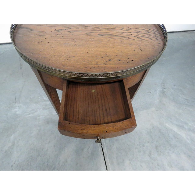 Gold Antique Louis XIV Style Bouillotte Table For Sale - Image 8 of 10