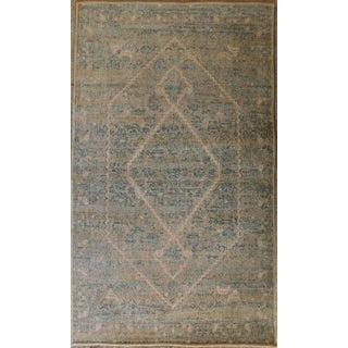 Gray & Teal Rug - 2′3″ × 2′11″ For Sale