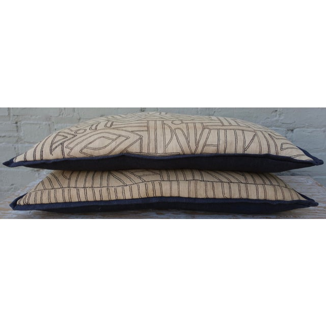 Geometric Kuba Cloth Pillows - A Pair For Sale - Image 10 of 10