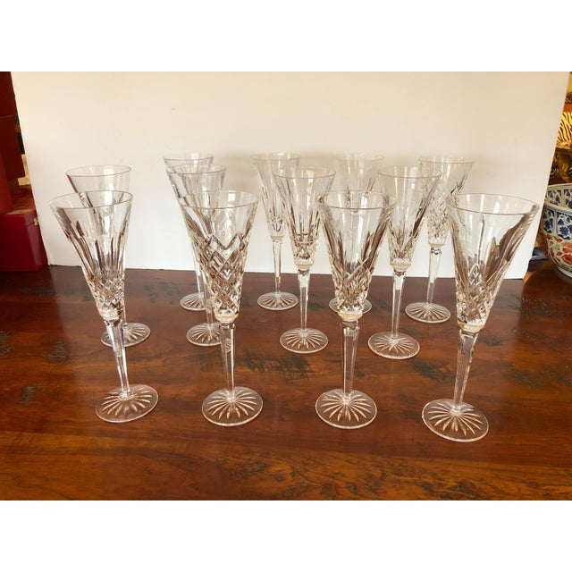 Waterford Crystal 12 Days of Christmas Champagne Flutes- 12 Pieces For Sale - Image 12 of 12