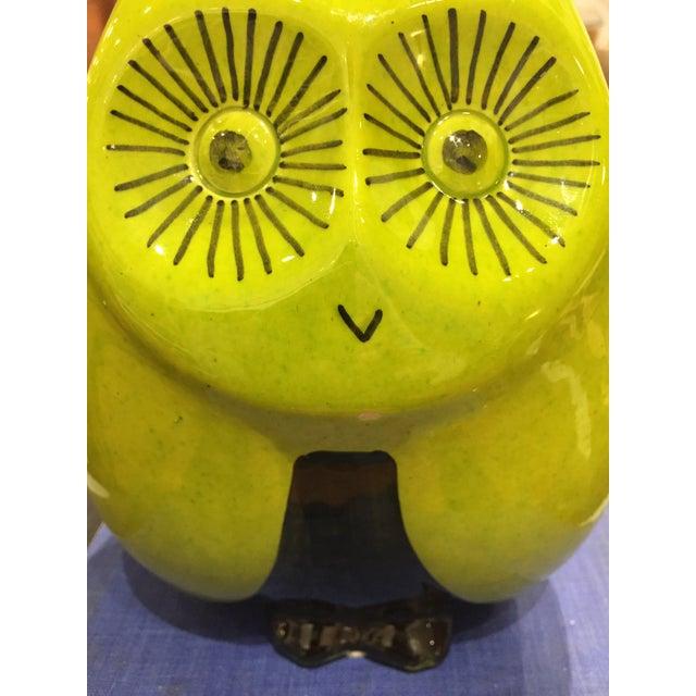 Vintage Mid Century Baldelli Italian Ceramic Owl Bank For Sale - Image 10 of 11