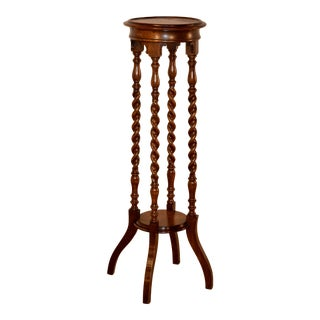 19th C English Oak Plant Stand For Sale
