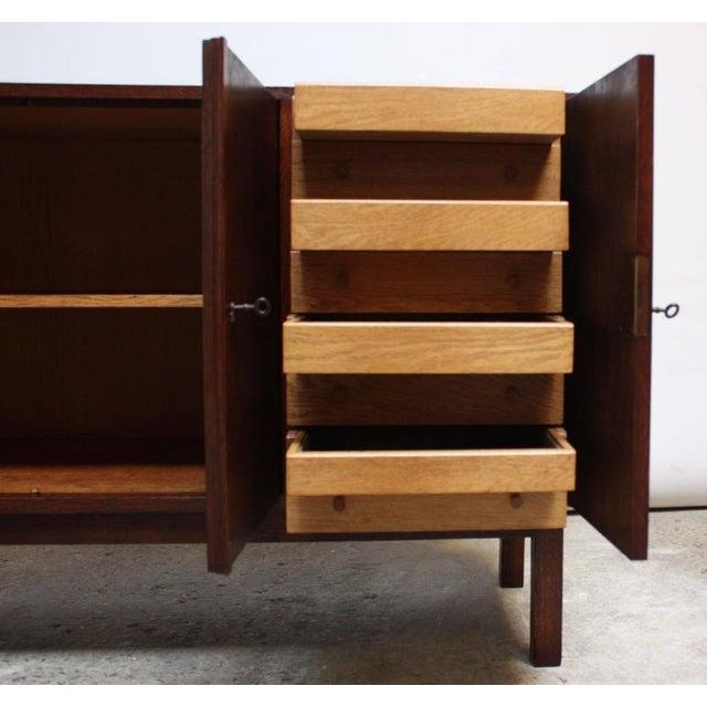 Danish Cabinet Maker Custom Oak Sideboard - Image 11 of 11