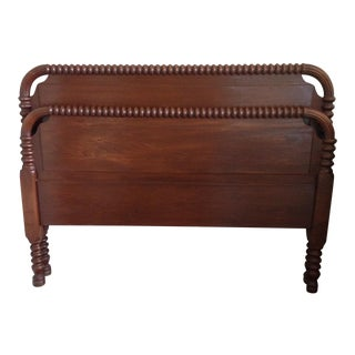 Antique Jenny Lind Style Full Spindle Headboard & Footboard For Sale