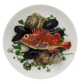 Majolica Trompe-L'œil Seafood Plate