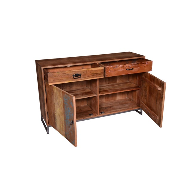 Cort Recycled Wood Two Drawer Sideboard For Sale - Image 4 of 6