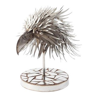 Phillips Collection Eagle Head Stainless Sculpture For Sale