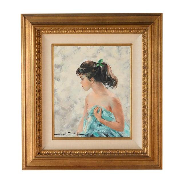Igor Talwinski Portrait of Innocent Girl Painting For Sale