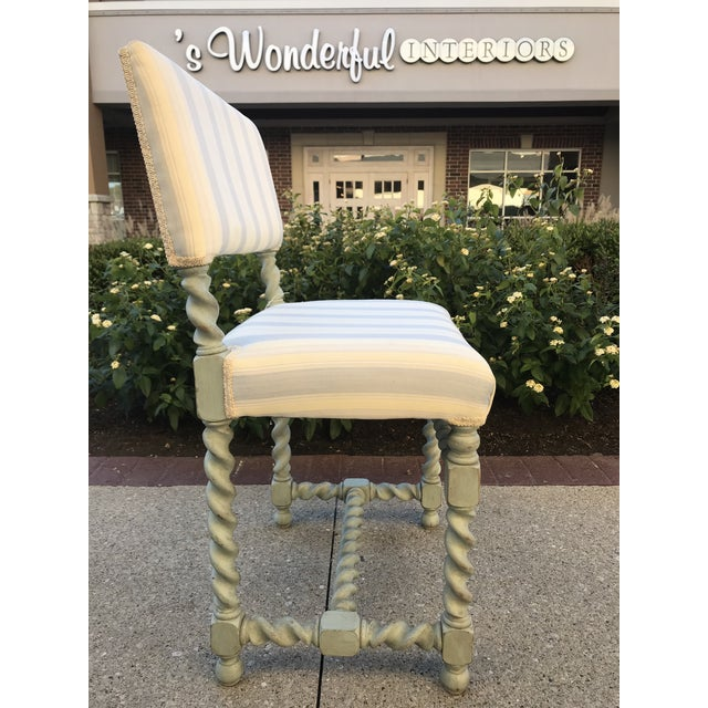 Barley Twist Chairs - Set of 6 Gustavian Style For Sale - Image 4 of 10