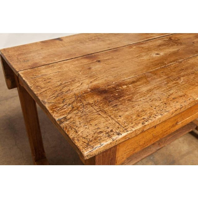 19th Century French Farmhouse Kitchen Table & Leaves - Image 8 of 10