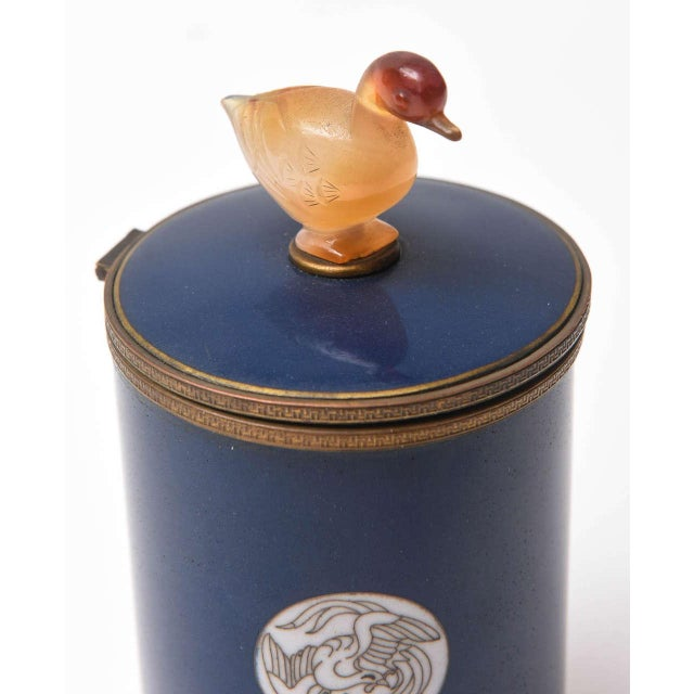 Early 20th Century Vintage Enameled Cigarette Dispenser For Sale - Image 5 of 8
