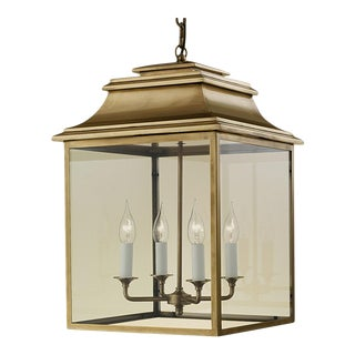 4 Candle Brass Lantern For Sale