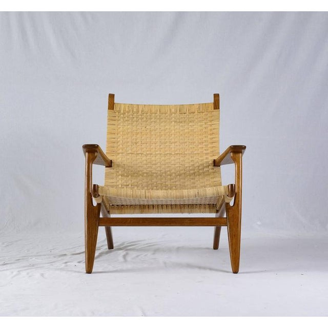 Hans Wegner CH-27 lounge chair designed in 1949 and produced by Carl Hansen.