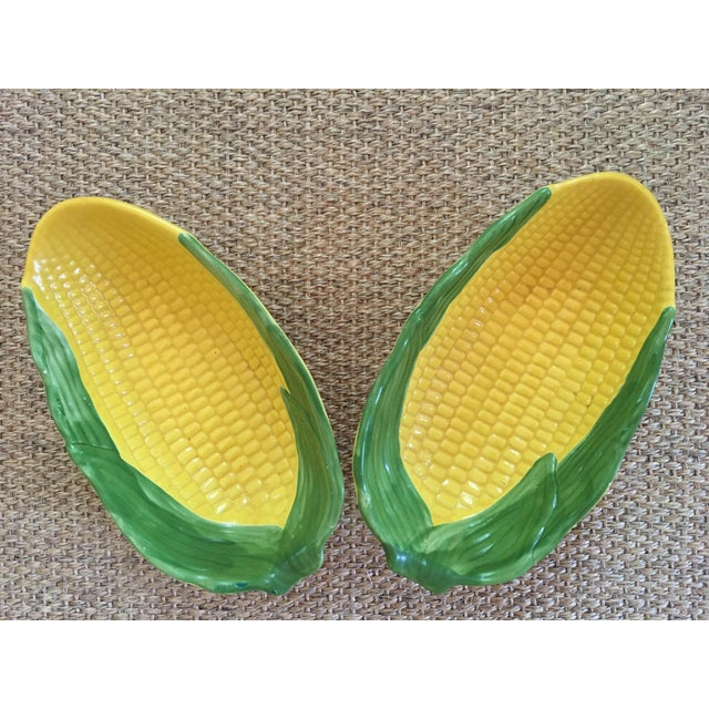 1960s Vintage Serving Bowls in Shape of Large Ears of Corn- a Pair For Sale - Image 9 of 10