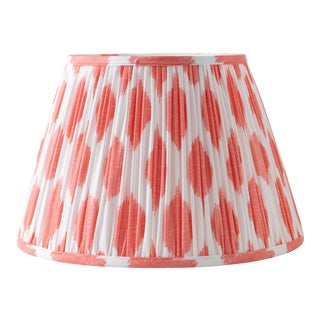 """Signature Ikat in Coral 18"""" Lamp Shade, Peach For Sale"""