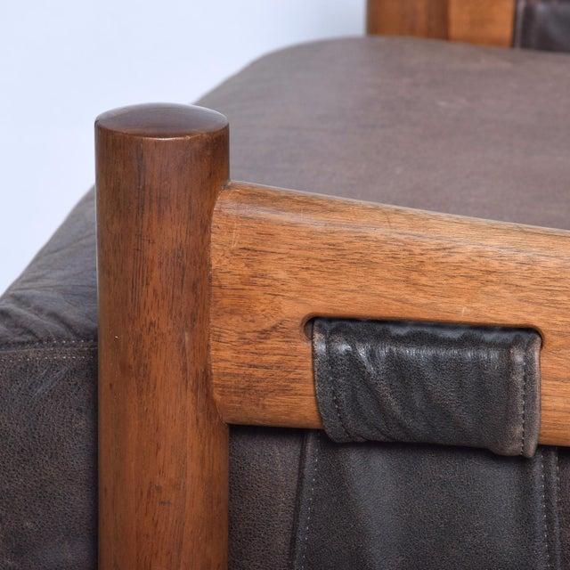 Mid Century Modern Craft Associates Brazilian Leather Lounge Safari Chair For Sale In San Diego - Image 6 of 11