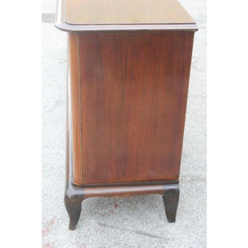 Brown Long French Art Deco Sideboard / Buffet By Jules Leleu with Mother of Pearl Circa 1940s For Sale - Image 8 of 8
