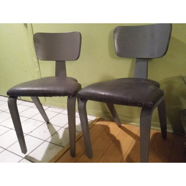 Herman Miller Style Faux Alligator Chairs - A Pair - Image 4 of 7