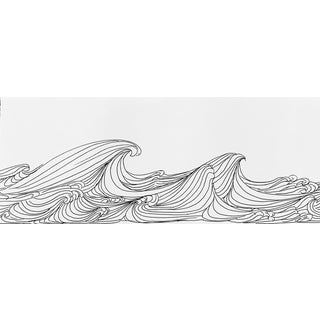 "Original Pen & Ink Drawing ""The Waves"" For Sale"