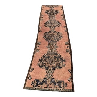 "Antique Turkish Oushak Runner - 2'5"" x 9'2"""