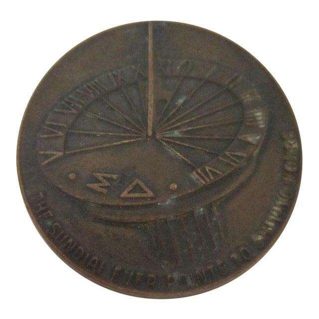 Sundial Bronze Medal For Sale