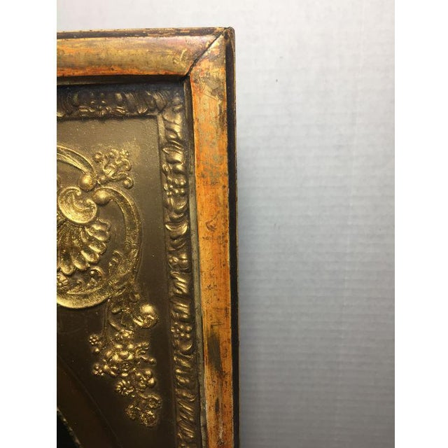 19th Century French Gilt Wall Clock in Shadow Box For Sale - Image 11 of 13