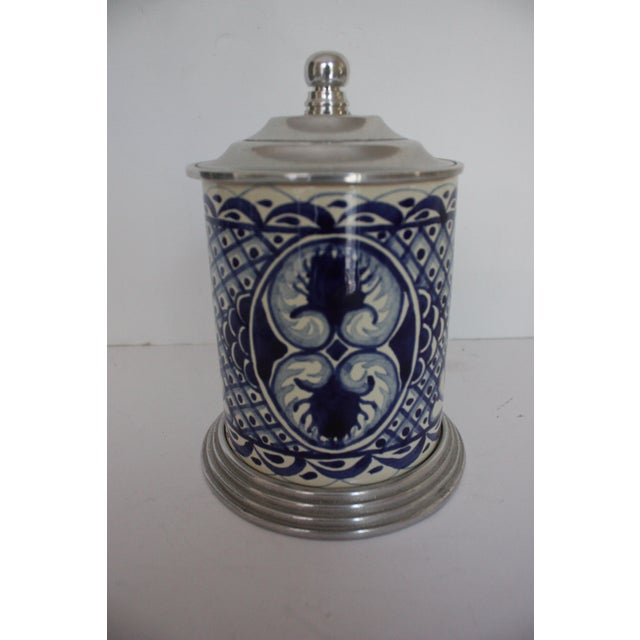 Blue & White Canister - Image 2 of 4