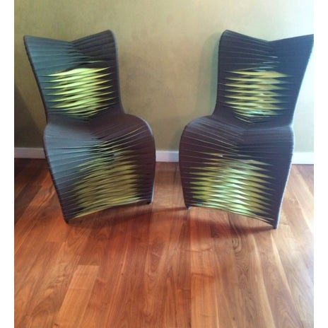 Phillips Collection Seat Belt Dining Chairs - S/6 - Image 3 of 4