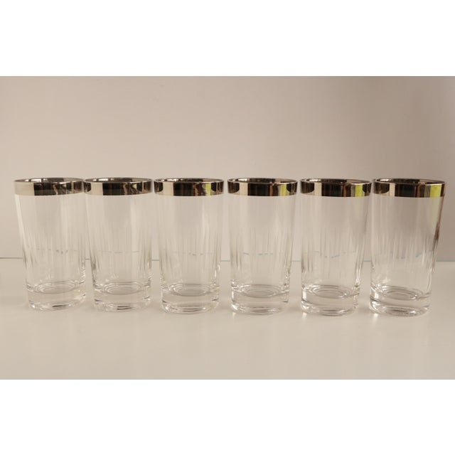 Dorothy Thorpe Style Etched Glasses - Set of 6 For Sale - Image 4 of 5