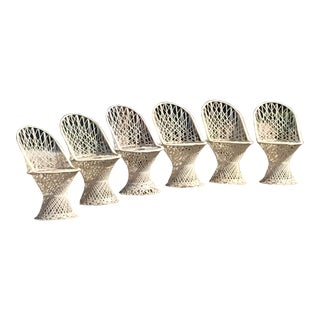 Mid Century Modern Russell Woodard Spun Fiberglass Patio Chairs - Set of 6 For Sale