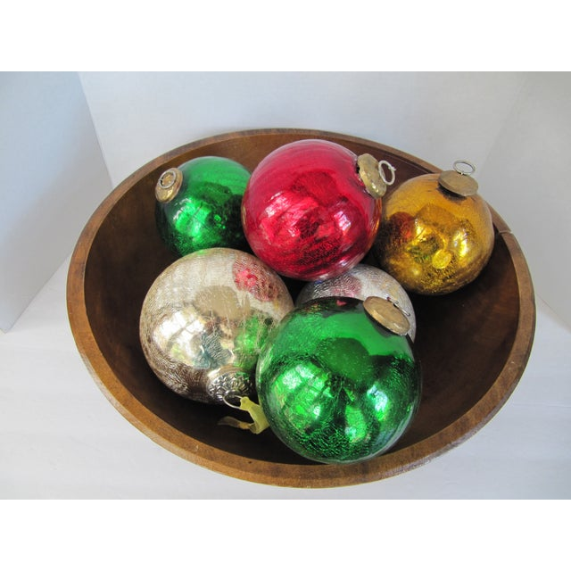 Colored Mercury Glass Ornaments - Set of 7 - Image 3 of 6