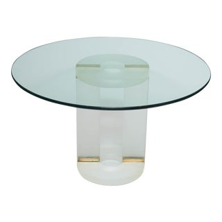 Vintage Resin and Glass Table
