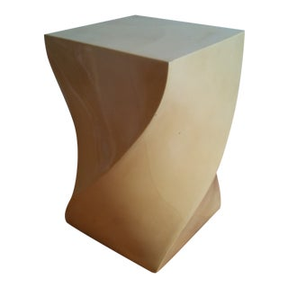 Modern Goatskin Twist Pedestal Table For Sale
