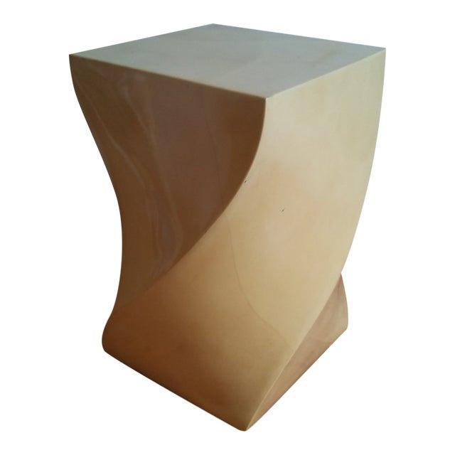 Modern Goatskin Twist Pedestal Table For Sale