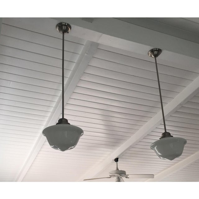 Restoration hardware schoolhouse pendant lights a pair chairish restoration hardware schoolhouse pendant lights a pair image 4 of 4 mozeypictures Gallery