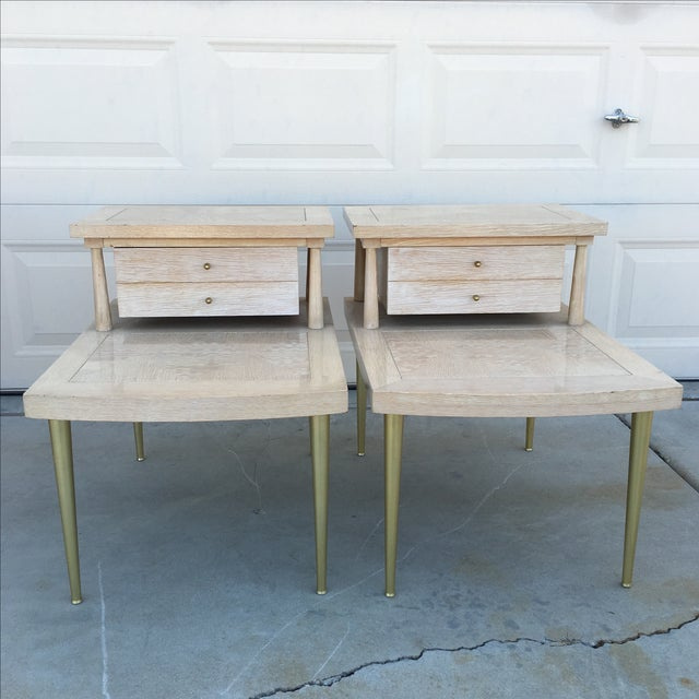 Mid-Century Modern Lane Maple Nightstands - A Pair - Image 2 of 11