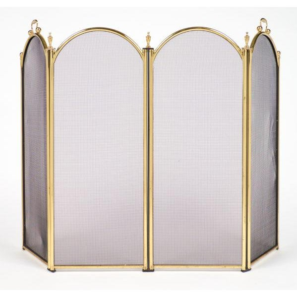 Vintage French Neoclassical Brass Fire Screen For Sale - Image 10 of 10