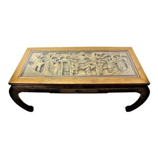 20th Century Asian Carved Coffee Table For Sale