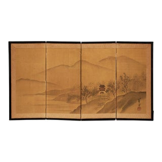 1940s Japanese Table Screen