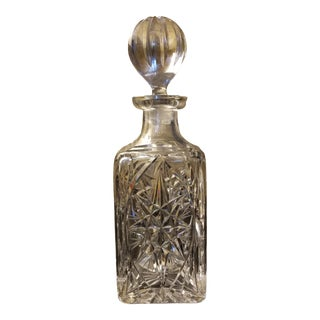 20th Century Etched Crystal Bergdorf Goodman Decanter For Sale